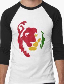 Lion Rasta Reggae Men's Baseball ¾ T-Shirt