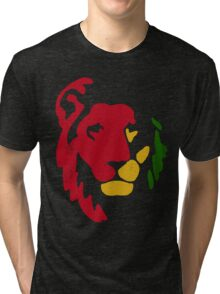 Lion Rasta Reggae Tri-blend T-Shirt