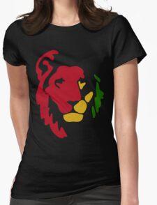 Lion Rasta Reggae Womens Fitted T-Shirt