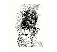 Miss Spider Barnet! Art Print