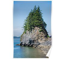Rocky, Tree Crowned Islet, Ketchikan, Alska Poster