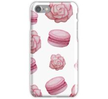 Romantic Inspired Pattern   Macaroons and Roses   Watercolor Paint iPhone Case/Skin
