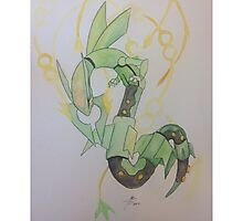 Rayquaza - Pokemon Photographic Print