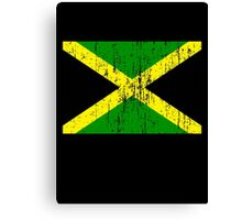 Jamaican Flag (distressed, any background) Canvas Print