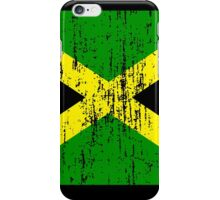 Jamaican Flag (distressed, any background) iPhone Case/Skin