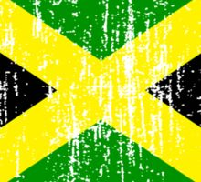 Jamaican Flag (distressed, any background) Sticker