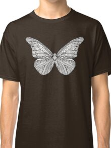 Beautiful black white butterfly Classic T-Shirt