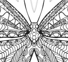Beautiful black white butterfly Sticker