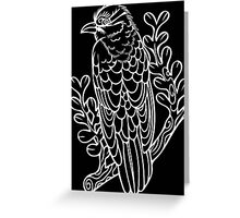 Diderick Cuckoo in White Greeting Card