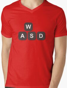 Video Game Addiction PC Gamers Keyboard Keys Controls Mens V-Neck T-Shirt