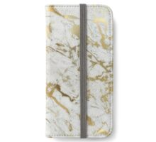 WHITE AND GOLD MARBLE iPhone Wallet/Case/Skin