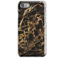 BLACK AND GOLD MARBLE iPhone Case/Skin