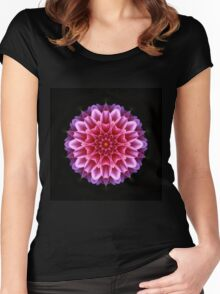 Dahlia in kaleidoscope Women's Fitted Scoop T-Shirt