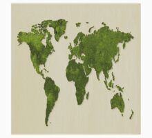 Earth,map,grass,green earth,modern,trendy,contemporary art Kids Tee