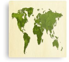 Earth,map,grass,green earth,modern,trendy,contemporary art Metal Print