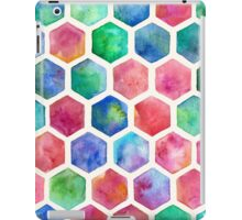 Hand Painted Watercolor Honeycomb Pattern iPad Case/Skin