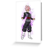 Super Saiyan Rose Transformation  Greeting Card