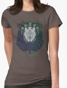 Raven and the Wolf Womens Fitted T-Shirt