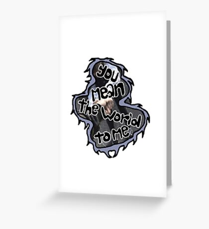 fan girl- ghost town Greeting Card