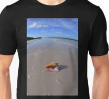 Conch Shell On The Beach in the Bahamas Unisex T-Shirt