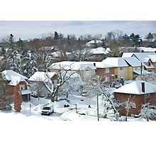 The Morning after a Big Snowstorm in Toronto, ON, Canada Photographic Print