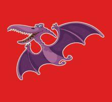 Flying Purple Dino One Piece - Short Sleeve