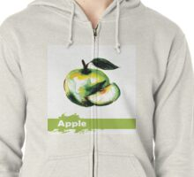 illustration of fruit apple Zipped Hoodie