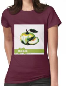 illustration of fruit apple Womens Fitted T-Shirt