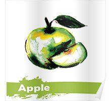 illustration of fruit apple Poster