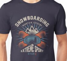 Snowboarding Mountain Extreme Unisex T-Shirt