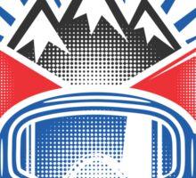 Snowboarding Mountain Extreme Sticker