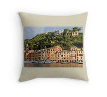 Portofino, Italy on a Bright, Sunny Day Throw Pillow