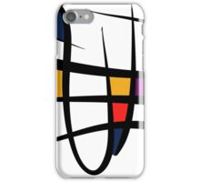 Abstract art composition minimale iPhone Case/Skin