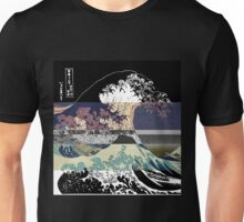 The Great Wave Hokusai Threshold Invert Unisex T-Shirt