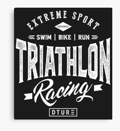 Triathlon Racing Canvas Print