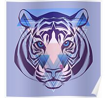 Tiger Hipster Animals Gift Poster