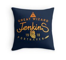 THE GREAT WIZARD JENKINS - PILLOW Throw Pillow