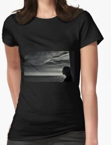 Looking Out To Sea Womens Fitted T-Shirt