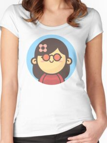 Mini Characters - Hippie Woman Women's Fitted Scoop T-Shirt