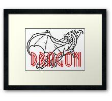 Comic Cartoon Dragon Design Framed Print