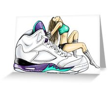 Grape 5 Jordan Girl Greeting Card
