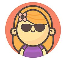 Mini Characters - Cool Blonde Girl Photographic Print