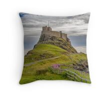 The Castle  Holy Island Throw Pillow