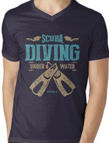 Scuba Diving Mens V-Neck T-Shirt