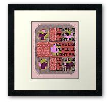 Love Patch Framed Print