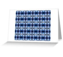 snowflake in blue 8 pattern Greeting Card