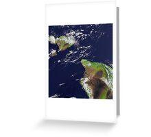 Hawaii, Maui, and Kahoolawe Islands Satellite Image  Greeting Card