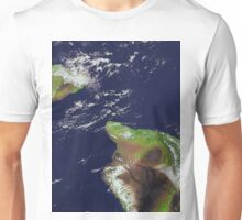 Hawaii, Maui, and Kahoolawe Islands Satellite Image  Unisex T-Shirt