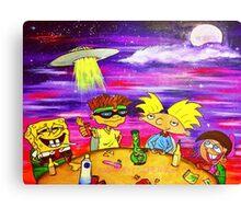 Nick At Night Canvas Print