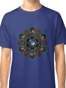 Purple and Teal Mandala with Gemstones Classic T-Shirt
